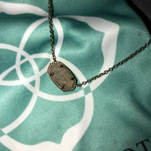 Kendra Scott Elisa necklace gold/iridescent drusy.